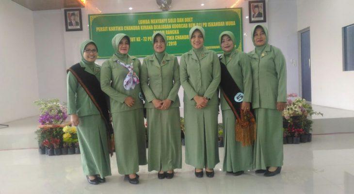 Lomba Menyanyi Solo dan Duet, Persit Kodim 0103/Aceh Utara Juaranya