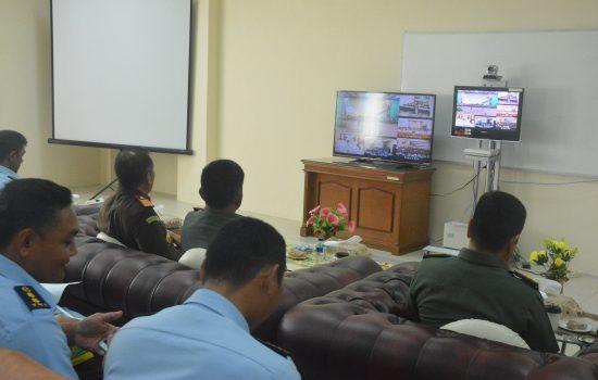 Melalui Video Conference, Pangdam IM Saksikan Penandatanganan MOU Kejaksaan RI dengan TNI