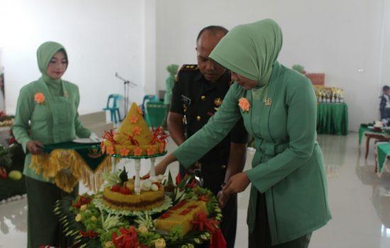 Tepat Hari Kartini, Persit KCK Cab. XXII Dim 0106/Ateng Gelar Syukuran HUT Ke-72