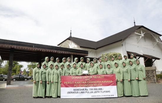 Persit KCK PD Iskandar Muda Salurkan Donasi untuk Gempa Lombok