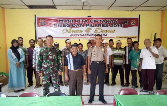 Anggota Koramil 06/Singkohor Hadiri Deklarasi Damai di Desa Lae Pinang