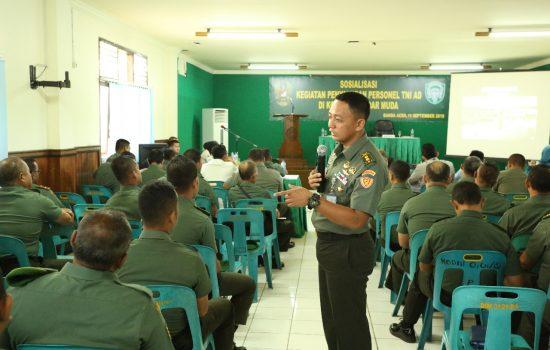 Prajurit dan PNS Terima Sosialisasi Penyaluran Personel TNI AD