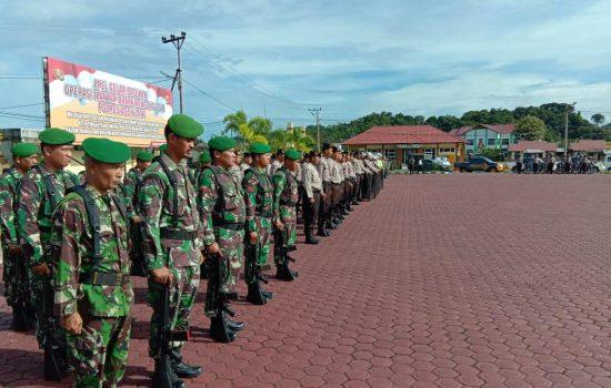 Personil Kodim Aceh Jaya Ikut Apel Gelar Pasukan Operasi Mantap Brata Rencong Tahun 2018