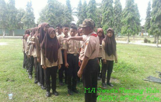 Bati Wanwil Koramil 05/Thu Kodim 0117/Atam Melaksanakan kegiatan Pembinaan Anak Pramuka