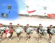 Aksi Terjun Payung Meriahkan Pameran Alutsista TNI di Blang Padang