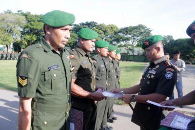 Peringatan HJK, 8 Prajurit TNI Korem 011 Lilawangsa Terima Penghargaan