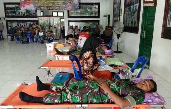 Kodim Aceh Jaya Sumbang Puluhan Kantong Darah