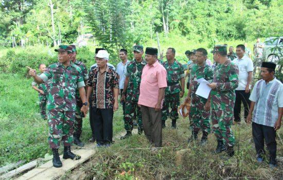 Danrem 012/TU Tinjau Lokasi Sasaran TMMD