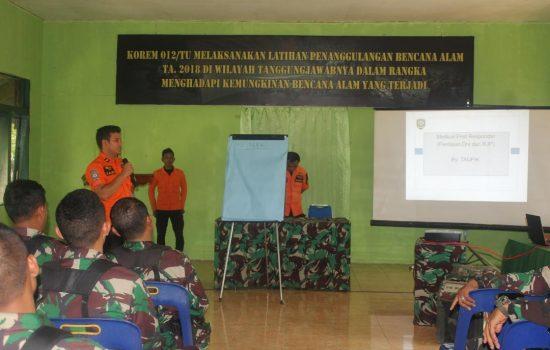Personil Kodim Aceh Jaya Latihan Penanggulangan Bencana Alam