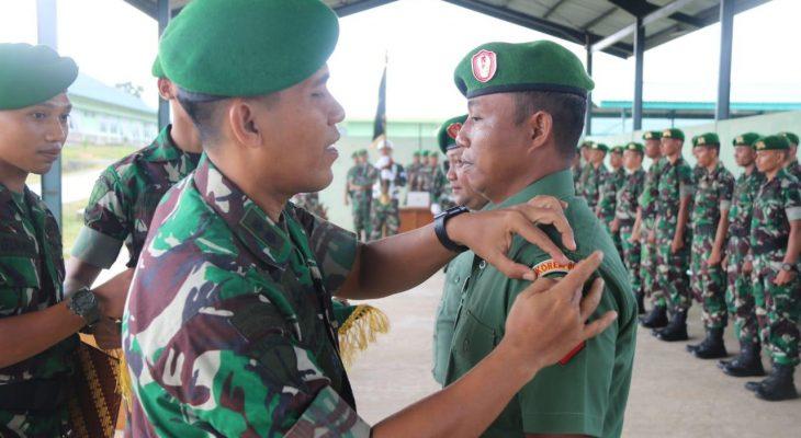 Brigif 25/Siwah Laksanakan Acara Korp Raport Pindah Satuan