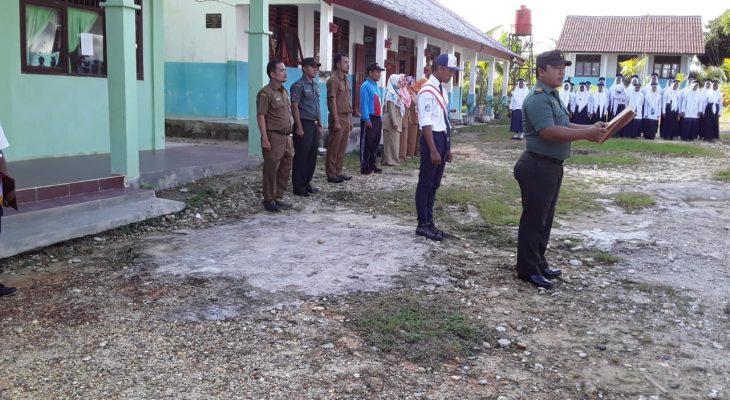 Bati Tuud Koramil 03/Longkib Irup di SMP Negeri 2 Longkib