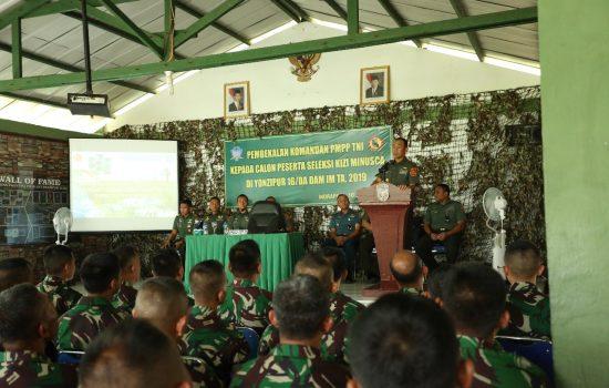 Komandan PMPP TNI Berikan Pembekalan Kepada Prajurit Yonzipur 16/DA
