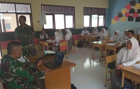 Koramil 02/LBH Sosialisasikan Penerimaan Calon Prajurit TNI