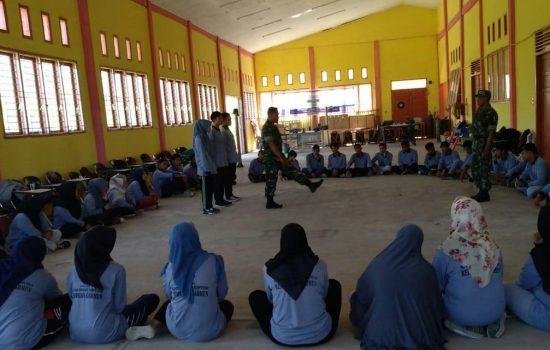 TNI Berikan Materi Disiplin dan Wasbang Ke Peserta Latihan Kerja