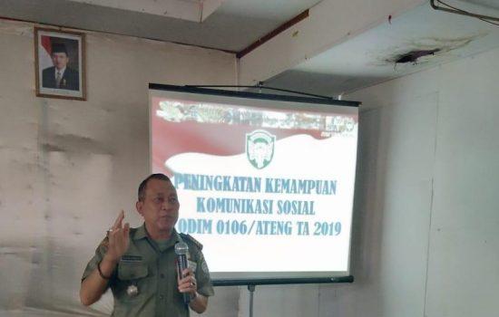 Komsos Tingkatkan Kemampuan Prajurit Kodim 0106/Ateng