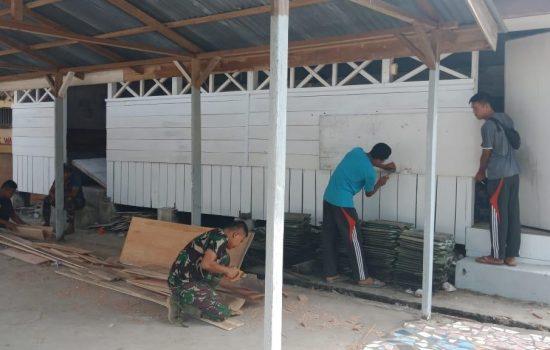 Satgas TMMD Adakan Perehaban Gudang Masjid Al-Mutaqin
