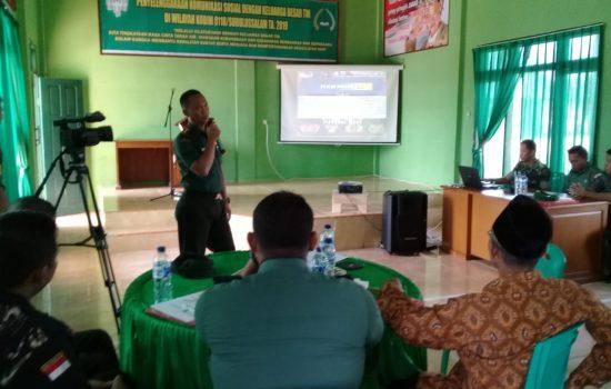 Kodim 0118/Subulussalam Laksanakan Komsos Dengan Keluarga Besar TNI