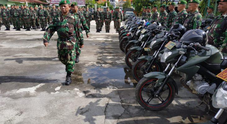 Kodim 0106/Ateng Laksanakan Apel Gelar Pasukan Pengamanan Pileg dan Presiden Tahun 2019