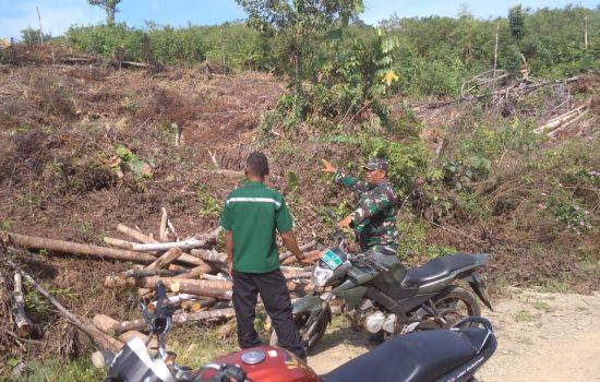 Cegah Kebakaran Hutan dan Lahan, Serda Jafar Sambangi Pemilik Lahan