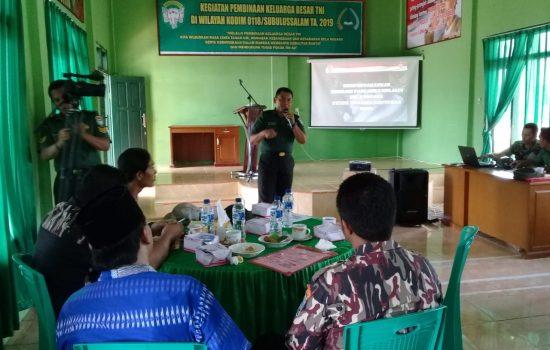 Kodim 0118 Gelar Pembinaan Kepada Keluarga Besar TNI