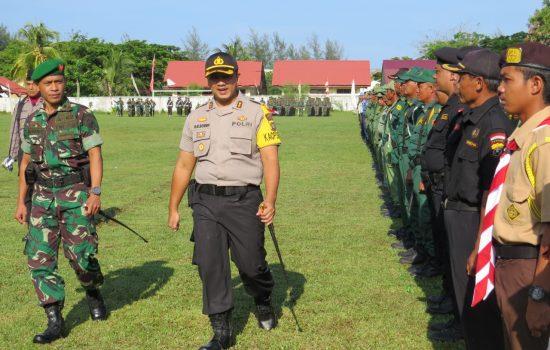 Kapolres Bersama Dandim Aceh Barat Pimpin Apel Gelar Pasukan