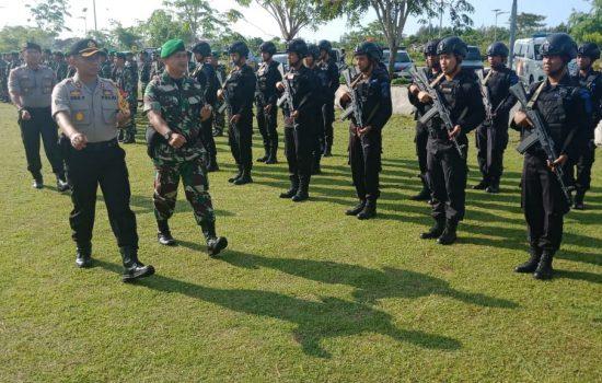 Jelang Kampanye Terbuka,TNI Polri di Aceh Jaya Laksanakan Apel Gelar Pasukan