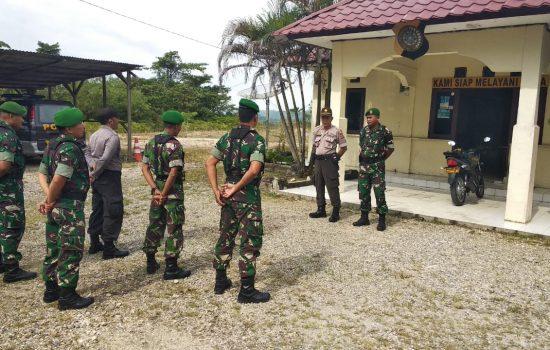 Wujudkan Keamanan di Wilayah Binaan TNI – Polri Laksanakan Patroli Bersama