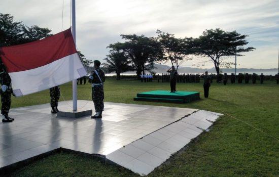 Kodim Aceh Jaya Kibarkan Bendera Merah Putih