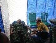 Sinergitas TNI-POLRI Ikuti Donor Darah HUT Bhyangkara 73