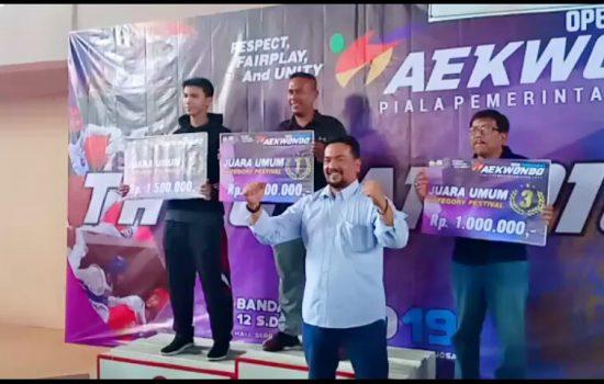 Dojang Kodim 0101/BS Sabet Juara Umum Open Tournament Taekwondo Aceh 2019