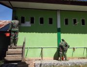 Kodim Aceh Jaya Bantu Pengecatan Pesantren