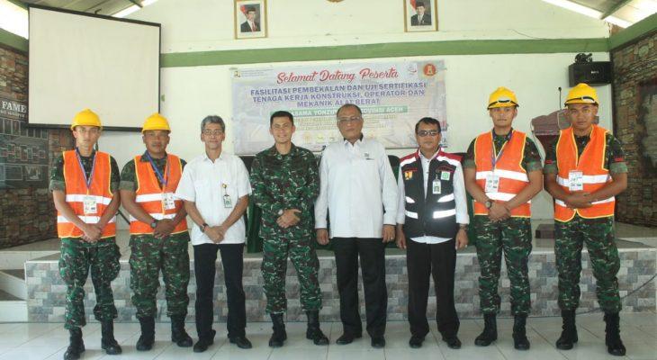 Yonzipur 16//DA  Bersama Kementerian PUPR Adakan Uji Kompetensi Mekanik dan Operator Alat Berat