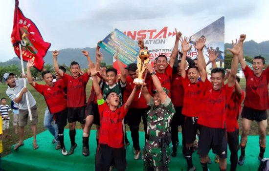 Danrem 012/TU Tutup Turnamen Sepak Bola Piala Danrem Cup 2019