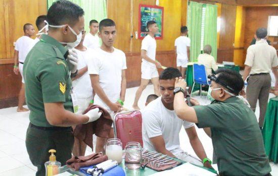 Pemeriksaan Kesehatan Pusat Calon Siswa Caba PK Pulau Terluar TA 2019 Kodam IM