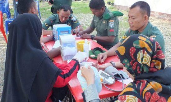 Peringati HUT RI ke 74, Anggota Kodim 0117/Atam Partisipasi Donor Darah