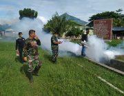 Antisipasi Peyebaran Firus DBD, Asmil Kodim 0110/Abdya Laksanakan Fogging