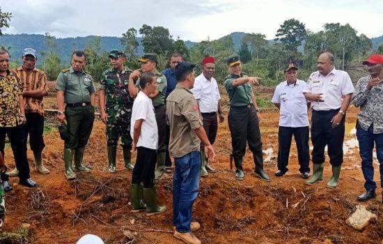 Tim Wasev Cetak Sawah Mabesad Kunjungi Lokasi Cetak Sawah Kodim 0102/ Pidie