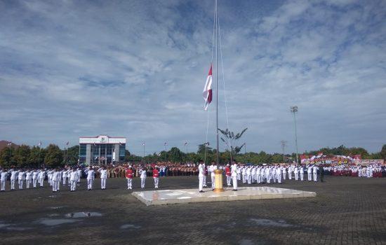 Personel Kodim 0118 Ikuti Upacara Peringatan HUT Ke 74 Kemerdekaan RI