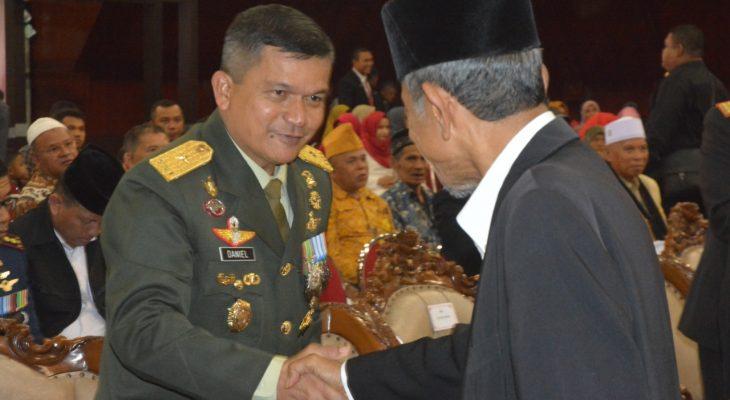 Kasdam IM Ramah Tamah dengan Purnawirawan TNI-Polri