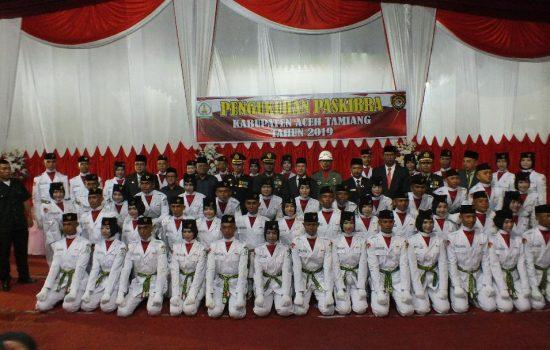 Dandim 0117/Atam Hadiri Upacara Pengukuhan Paskibra Kabupaten Aceh Tamiang