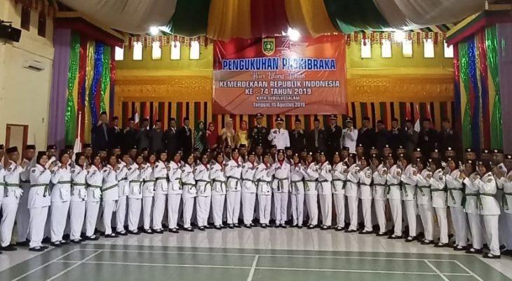 Dandim Hadiri Pengukuhan Paskibraka HUT RI ke 74 Kota Subulussalam