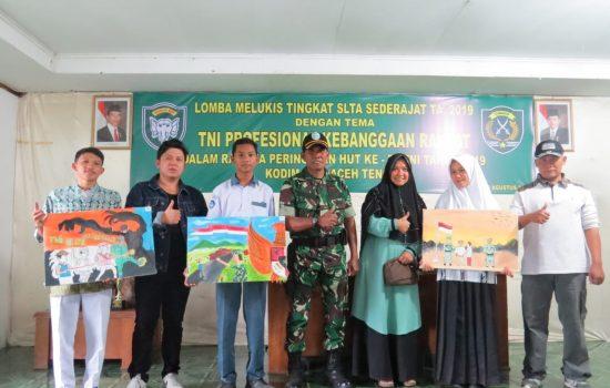 HUT TNI, Kodim 0106/Ateng Selenggarakan Lomba Melukis Tingkat SLTA