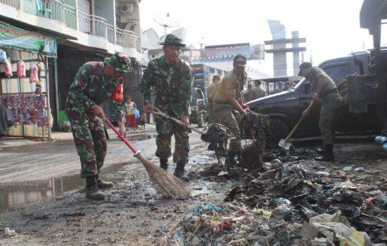 Sambut HUT TNI, Kodim Agara Laksanakan Karya Bhakti