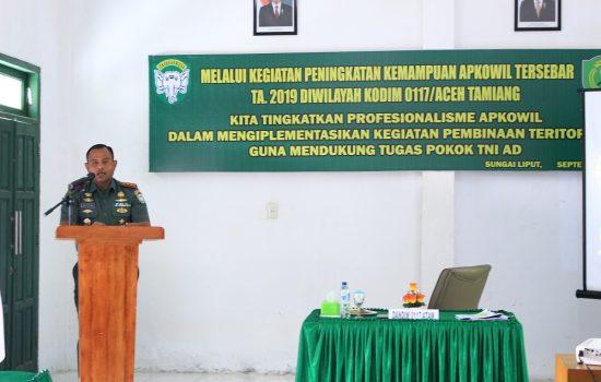Kodim 0117/Atam Melaksanakan Peningkatan Kemampuan Apkowil Tersebar T.A. 2019