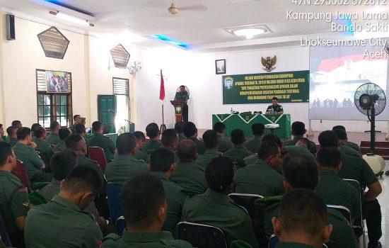 Kodim 0103/Aut Gelar kegiatan Peningkatan Apkowil Tersebar Ta. 2019