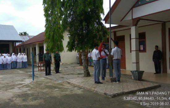 Pesan Danramil Saat Jadi Irup di SMA N 1 Padang Tiji