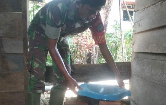 Nenek Dhuafa Terima Jambanisasi dari Babinsa Koramil 04/Susoh