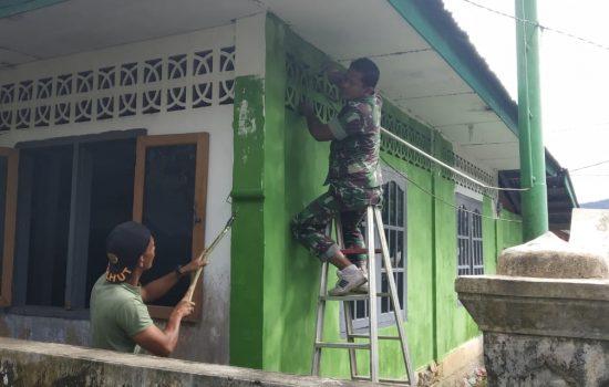 Kodim Aceh Jaya Benahi Sejumlah Bangunan Munasah