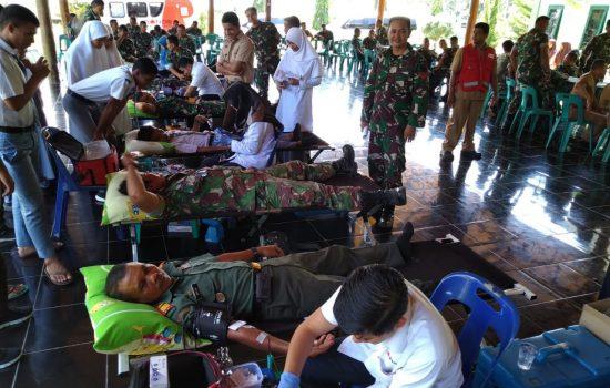 Kodim Aceh Jaya Gelar Donor Darah