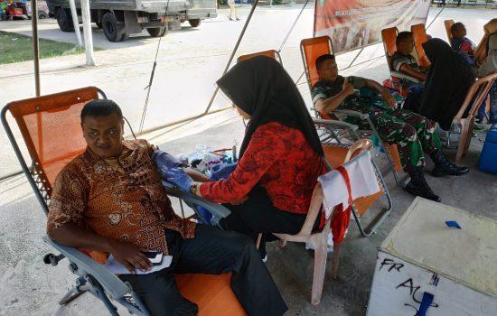 Kodim 0101/BS Gelar Baksos Donor Darah